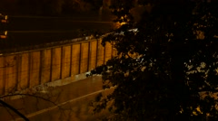 Rainy night , thunder, lightning. 4K UHD - stock footage