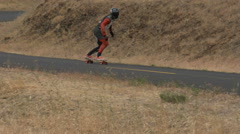 Skateboard, Skateboarder, Skateboarding, Competition, Race, Maryhill Loops Road Stock Footage