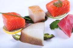Fresh sashimi - stock photo