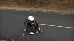 Skateboard, Skateboarder, Skateboarding, Competition, Race, Maryhill Loops Road Stock Footage