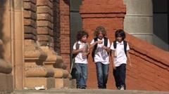 School Kids Drinking Bottled Water Arkistovideo