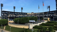4K UltraHD PNC Park, the field of the Pittsburgh Pirates club Stock Footage