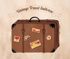 Vintage travel suitcase Stock Illustration