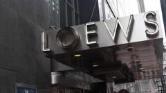 New York City Loews Sign Stock Footage