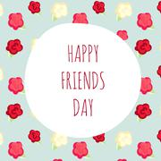 Vector illustration greeting on friendship day.  shabby chic Stock Illustration