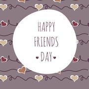 vector illustration greeting on friendship day - stock illustration
