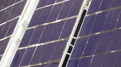 Solar panel satellite Stock Footage