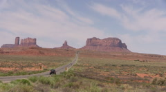 Highway to Monument Valley Stock Footage