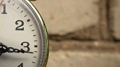 Clock ticks macro, close up Stock Footage