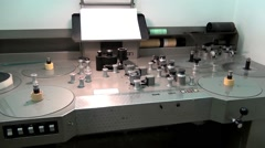 """Old table for editing video filmstrip ,,PREVOST"""" - stock footage"""