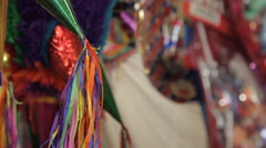 Piñatas at Mexican marketplace. - stock footage