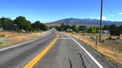 POV-Driving main street in a small rural Utah town Stock Footage