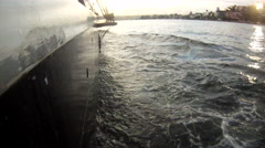 Clipper ship moving through water 4 Stock Footage
