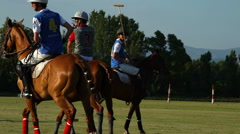 Rome 2015  Polo challenge during sunset. Slight slow motion. N Stock Footage