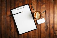 Blank paperwork template - stock photo