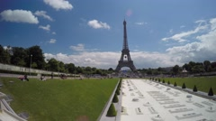 Clouds over Eiffel Tower in Paris timelapse Stock Footage