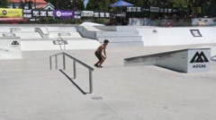 Leandro Pinto during the DC Skate Challenge Stock Footage
