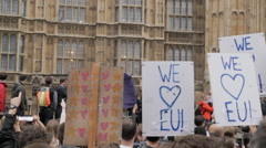 Demonstration against Brexit in London, Westminster Stock Footage
