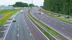 Time Lapse Highway ruim A10 Amsterdam Noord 1000 procent Stock Footage