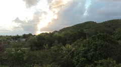 Scenic puerto rico mountain Stock Footage