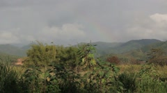 scenic southern puerto rico after rain with rainbow - stock footage
