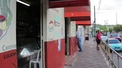Puerto rico street4 sidewalk Stock Footage