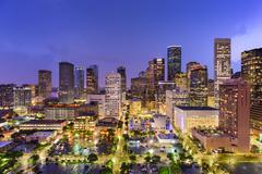 Houston Texas Skyline Kuvituskuvat