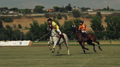 Polo challenge. Slight slow motion. N Editorial use Stock Footage