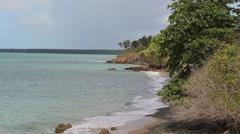 southern puerto rico coastal beach - stock footage