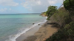 beach in puerto rico - stock footage