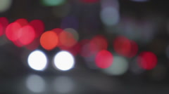 Night rush hour in megalopolis, many defocused traffic lights moving in street Stock Footage