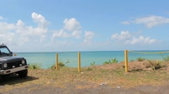 Southern puerto rico coastal drive2 Stock Footage