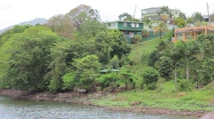 southern puerto rico lakeside house3 - stock footage