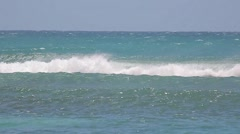 Southern puerto rico beach waves Stock Footage
