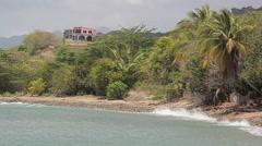 Southern puerto rico coastal beach6 Stock Footage
