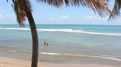 Southern puerto rico coastal beach7 Stock Footage
