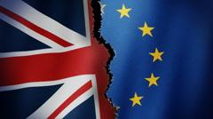 Brexit Flag Loop Stock Footage
