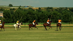 Rome 2015 Polo challenge. Slight slow motion. N Editorial use - stock footage