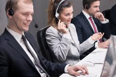 Telemarketing -a proven method of customer acquisition - stock photo