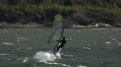 Wind Surfer, Windsurfing, Columbia River, Columbia Gorge Stock Footage