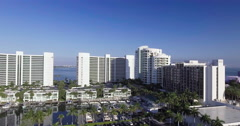 Aerial of Buildings In Sarasota's Historic District Stock Footage