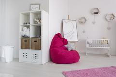 Comfortable resting space for a baby and her mummy - stock photo