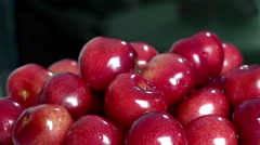 Sweet cherry rotating background Stock Footage