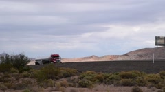 Truck passing on open highway Stock Footage