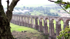 Mexico City Aqueduct Main Plane Stock Footage