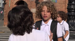 Immature Kids Having A Disagreement Stock Footage