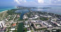 Aerial Of Builings In Lido Key Sarasota Florida Stock Footage