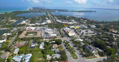 Aerial Of Builings In Lido Key Sarasota Florida Stock Footage