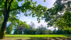 4K Green City Park, Urban Forest Tree Landscape Stock Footage