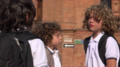 Kids Having A Disagreement Stock Footage